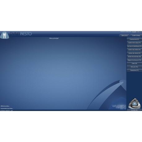 Ecran d'accueil du logiciel de caisse DYNARESTO CS