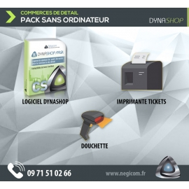 Pack commerce Dynashop Pro sans ordinateur