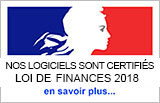 logiciels sont certifiés LOI DE FINANCES 2018